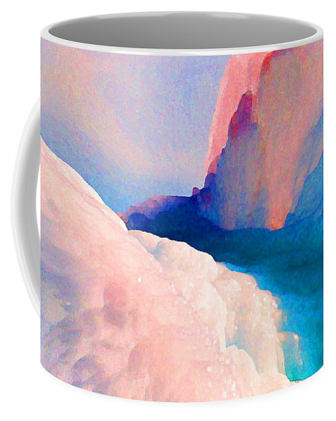 Abstract Coffee Mug featuring the photograph Ebb And Flow by Steve Karol