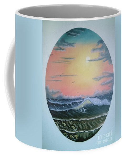 Pastel Sky Coffee Mug featuring the painting Ebb Tide by Jim Saltis