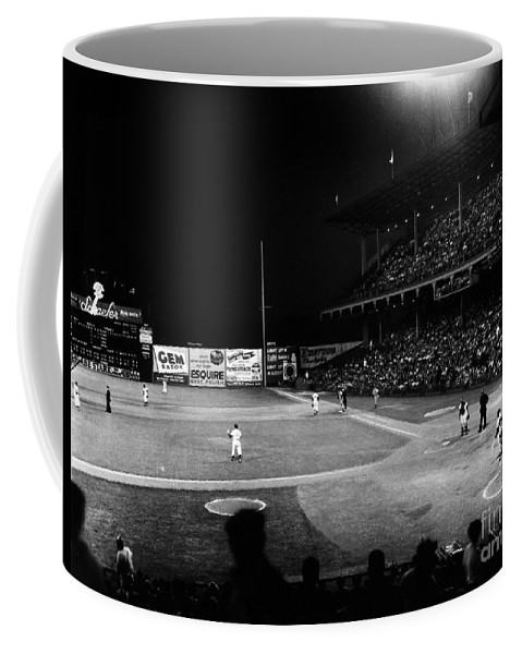 1957 Coffee Mug featuring the photograph Ebbets Field, 1957 by Granger