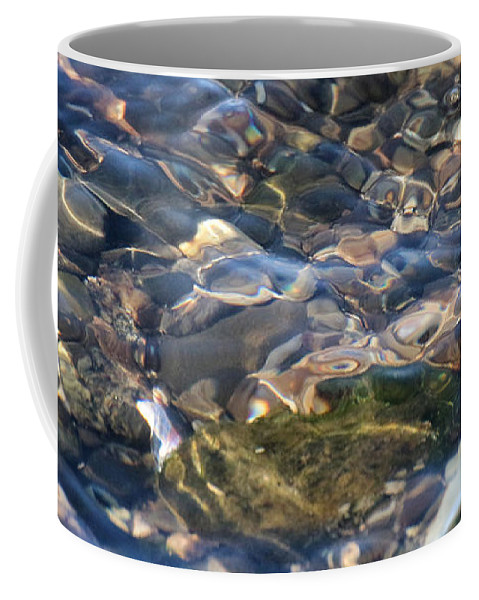 Abstract Coffee Mug featuring the photograph Ebbing Tide 2 by William Selander