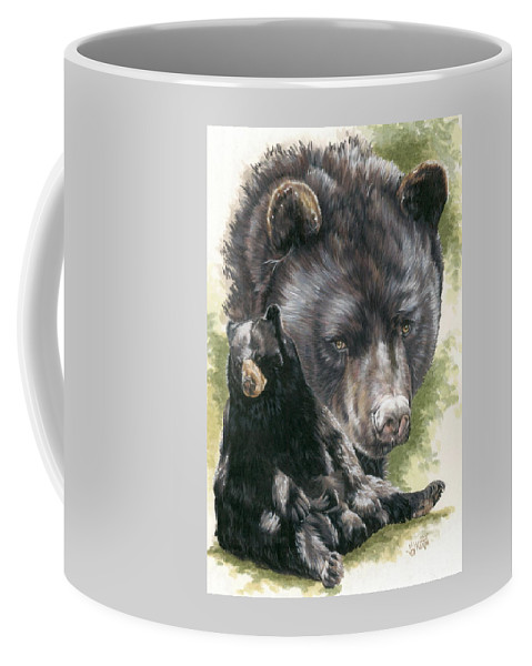 Black Bear Coffee Mug featuring the mixed media Ebony by Barbara Keith