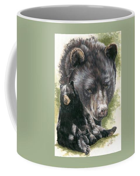 Black Bear Coffee Mug featuring the mixed media Ebony by Barbara Keith