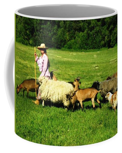 Landscape Coffee Mug featuring the painting Ecclesia-the Joyful Flock by Anastasia Savage Ealy