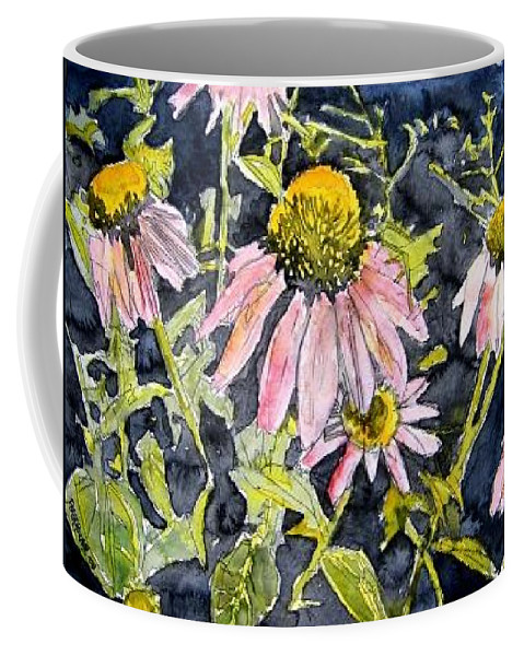 Echinacea Coffee Mug featuring the painting Echinacea Coneflower 2 by Derek Mccrea