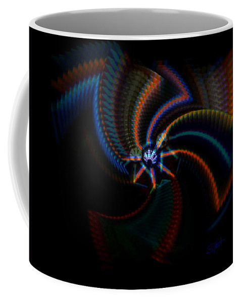 Chaos Coffee Mug featuring the painting Echoes by Charles Stuart