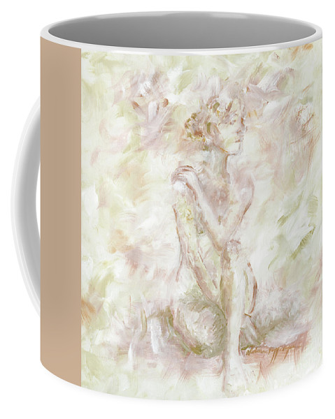 Nude Coffee Mug featuring the painting Echoes by Nadine Rippelmeyer
