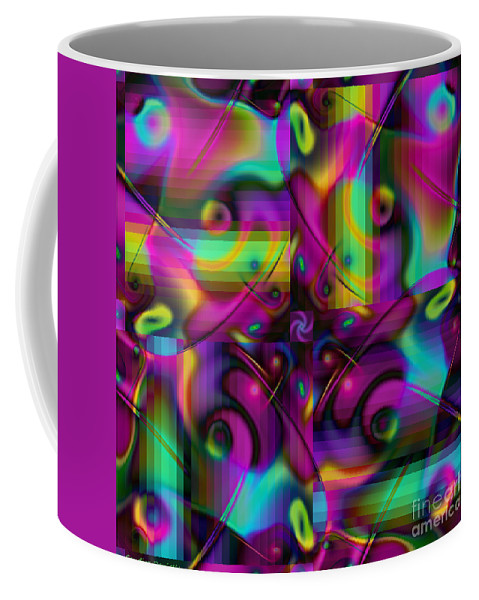 Art Coffee Mug featuring the digital art Eclectic by Candice Danielle Hughes