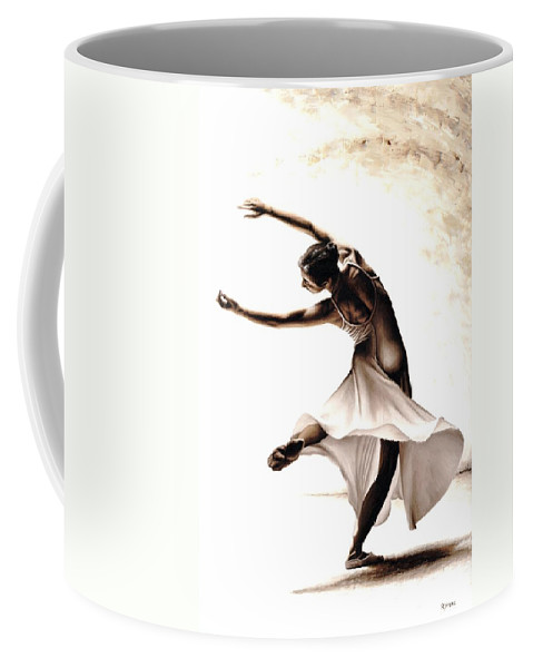 Dancer Coffee Mug featuring the painting Eclectic Dancer by Richard Young