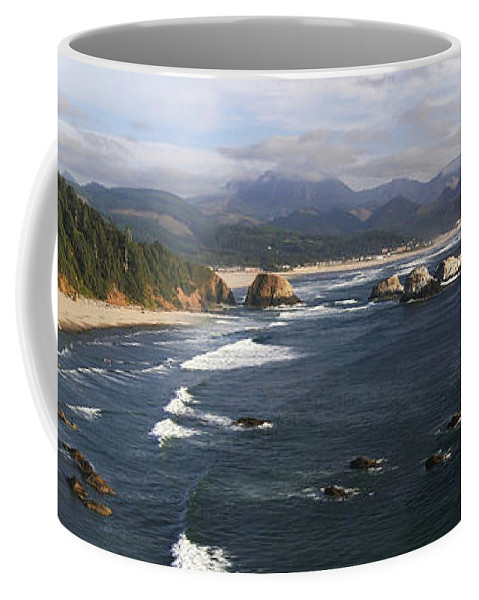 Ocean Coffee Mug featuring the photograph Ecola Vista by Winston Rockwell