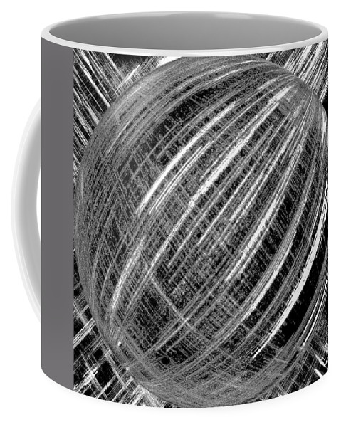 Black & White Coffee Mug featuring the digital art Economic Bubble by Will Borden