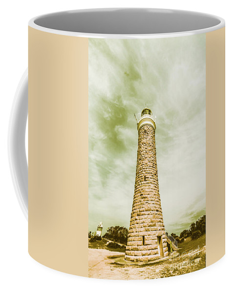 Lighthouse Coffee Mug featuring the photograph Eddystone Point Lighthouse by Jorgo Photography - Wall Art Gallery