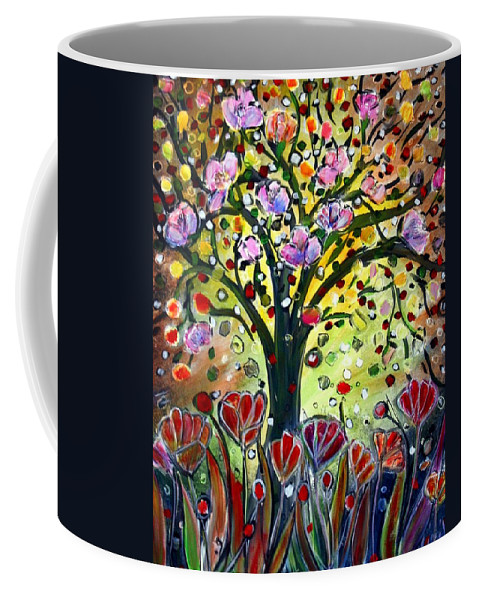 Flowers Coffee Mug featuring the painting Eden Garden by Luiza Vizoli