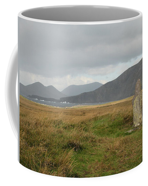 Medievil Coffee Mug featuring the photograph Edge Of The World by Kelly Mezzapelle