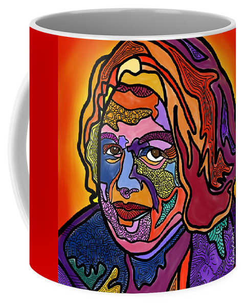 Edie Windsor Coffee Mug featuring the digital art Edie Windsor Soars Higher by Marconi Calindas