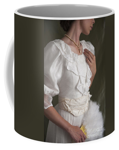 Edwardian Coffee Mug featuring the photograph Edwardian Woman Mid Section by Lee Avison