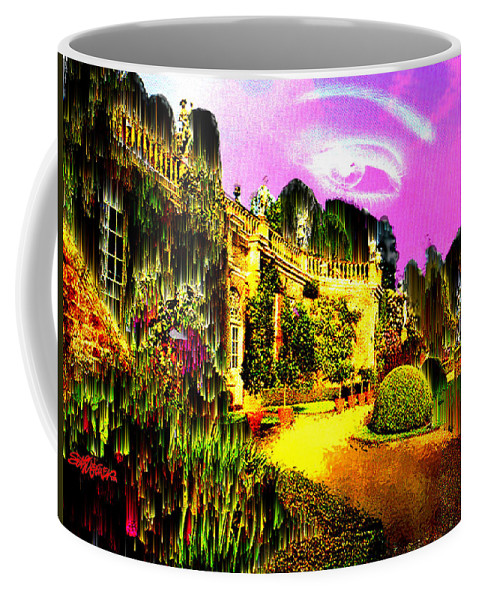 Mansion Coffee Mug featuring the digital art Eerie Estate by Seth Weaver
