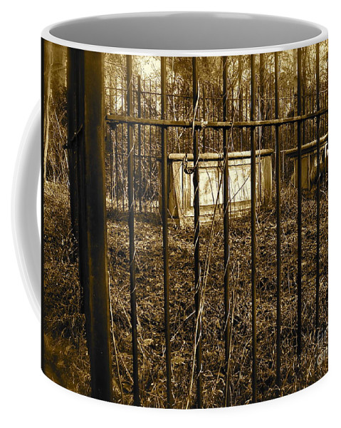 Cemetery Coffee Mug featuring the photograph Eerie Place by E Robert Dee