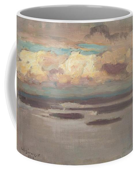 Beach Coffee Mug featuring the painting Eero Jarnefelt, From Koli by Eero Jarnefelt