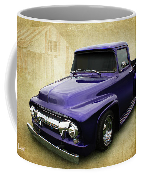 Truck Coffee Mug featuring the photograph Ef In Purple by Keith Hawley