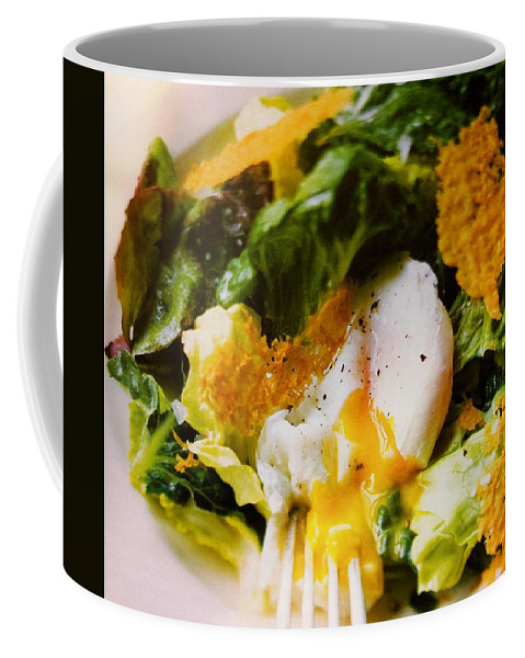 Figs Coffee Mug featuring the photograph Egg And Greens by Lord Frederick Lyle Morris