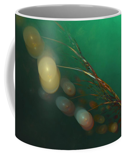Fantasy Coffee Mug featuring the digital art Egg Clutch Diving The Reef Series by David Lane