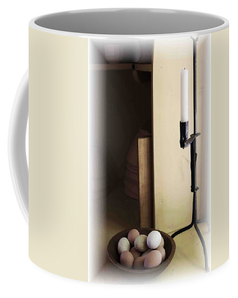 Still Life Coffee Mug featuring the photograph Eggs And Candlestick by Nelson Strong