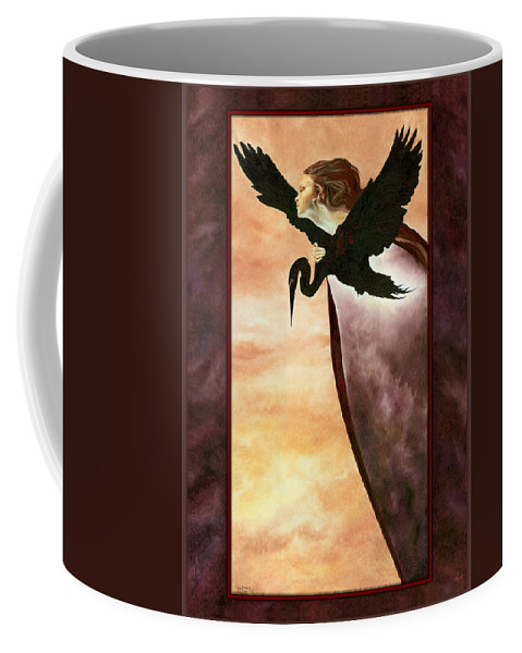 Egret Coffee Mug featuring the painting Egress by Ragen Mendenhall