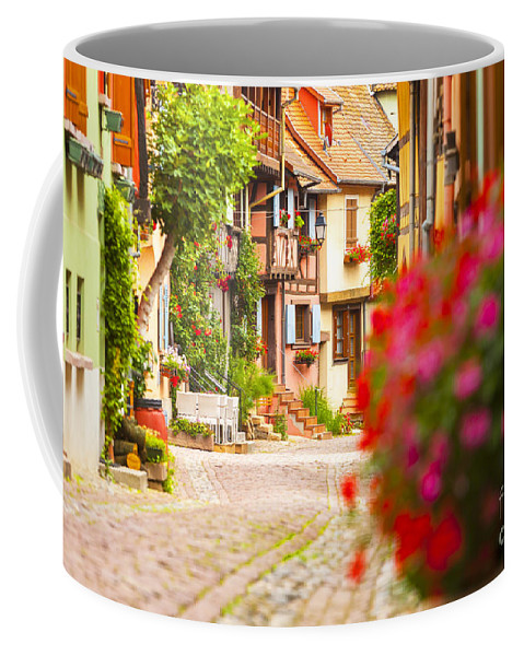 Alsace Coffee Mug featuring the photograph Half-timbered House, Eguisheim, Alsace, France by Marco Arduino