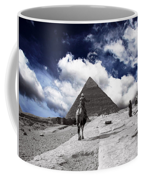Egypt Coffee Mug featuring the photograph Egypt - Clouds Over Pyramid by Munir Alawi
