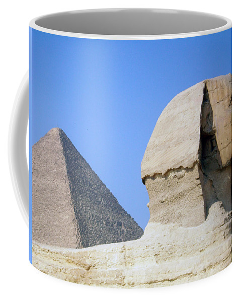 Egypt Coffee Mug featuring the photograph Egypt - Pyramids Abu Alhaul by Munir Alawi