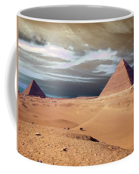 Eye Coffee Mug featuring the photograph Egypt Eyes by Munir Alawi