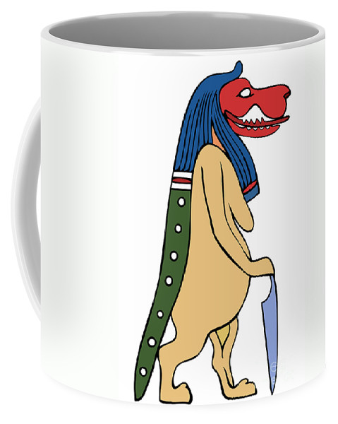 Bone Eater Coffee Mug featuring the digital art Egyptian Mythical Creature by Michal Boubin