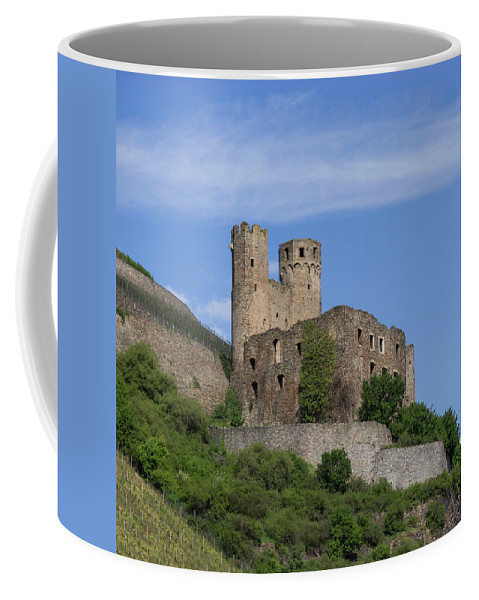 Ehrenfels Castle Coffee Mug featuring the photograph Ehrenfels Castle Squared 02 by Teresa Mucha