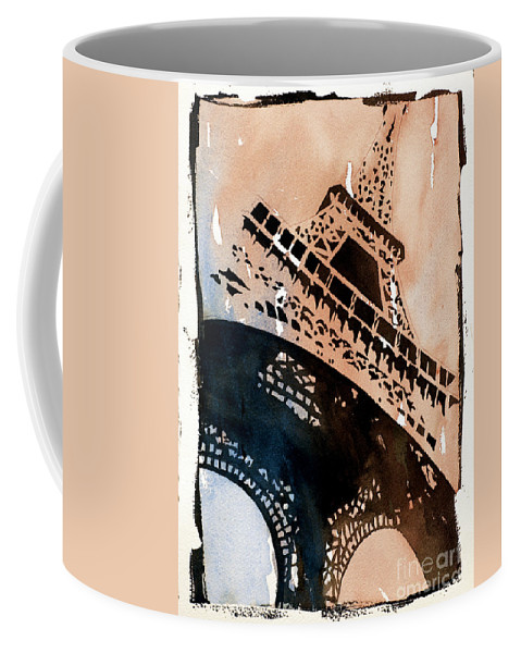 Art Prints Coffee Mug featuring the painting Eiffel IIi by Ryan Fox