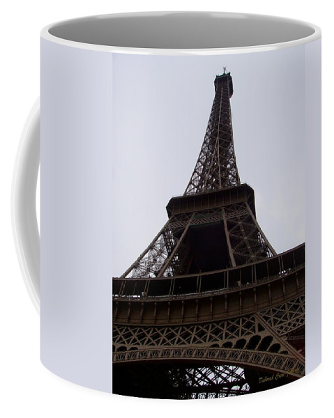 Building Coffee Mug featuring the photograph Eiffel Tower by Deborah Crew-Johnson