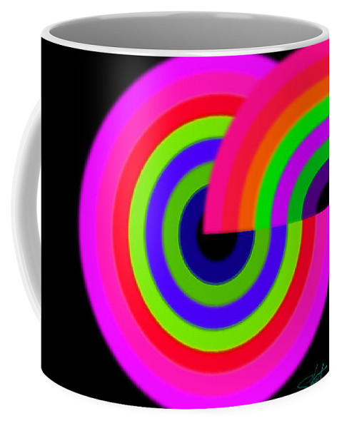 Eight Coffee Mug featuring the painting Eight State by Charles Stuart