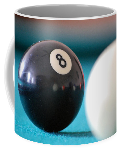 Billiards Coffee Mug featuring the photograph Eightball by Robert Meanor