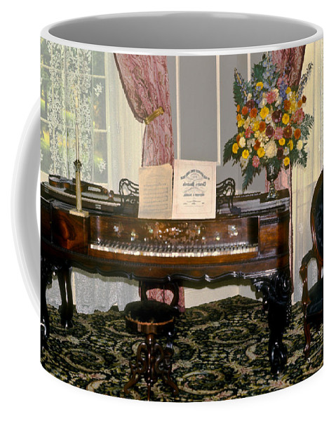 18th Coffee Mug featuring the photograph Eighteenth Century Piano And Parlor by Douglas Barnett