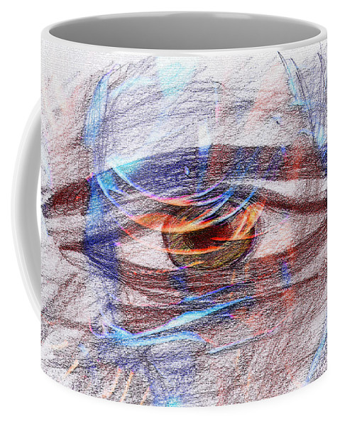 Auge Coffee Mug featuring the drawing Ein Augenblick 17042 by AndReaS KoVaR