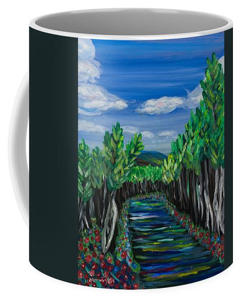 Acrylic Coffee Mug featuring the painting El Camino - El Verano - The Path - Summer by Candelario Cervantez