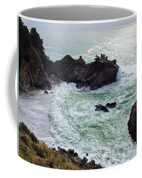 Landscape Coffee Mug featuring the photograph El Nino At Mcway Falls by JoJo Brown