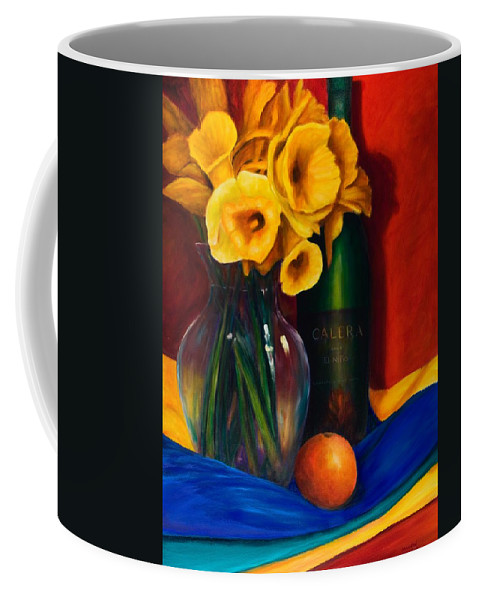 Red Coffee Mug featuring the painting El Nino by Shannon Grissom