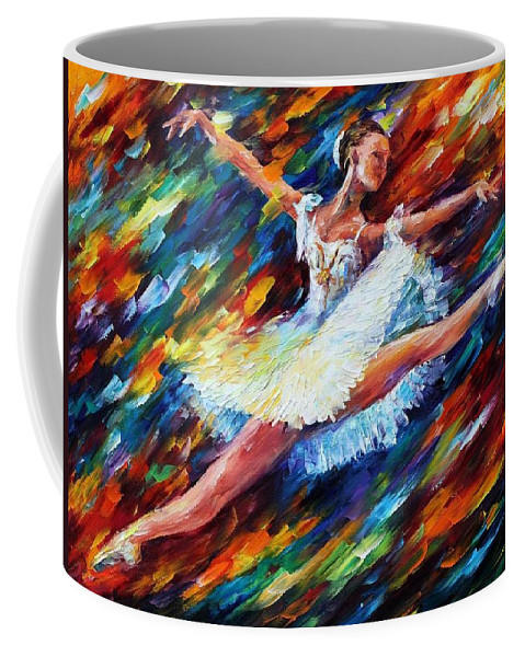 Afremov Coffee Mug featuring the painting Elation by Leonid Afremov