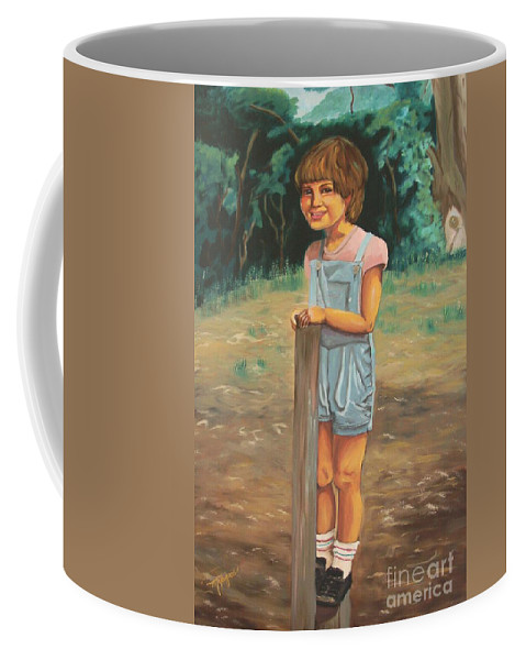 Portraits Coffee Mug featuring the painting Elbio by Milagros Palmieri