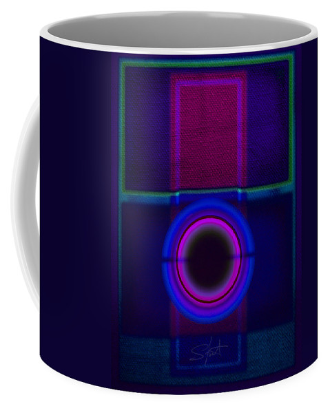 Portal Coffee Mug featuring the painting Electric Blue by Charles Stuart