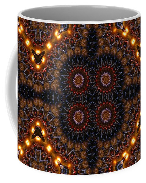 Kaleidoscope Coffee Mug featuring the photograph Electric Blue Midway by M E Cieplinski