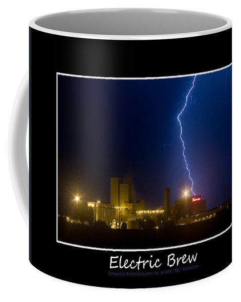Budweiser Coffee Mug featuring the photograph Electric Brew Poster by James BO Insogna