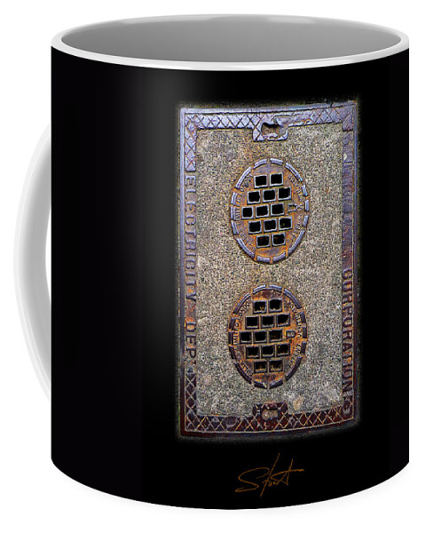 Access Cover Coffee Mug featuring the photograph Electric Smiles by Charles Stuart