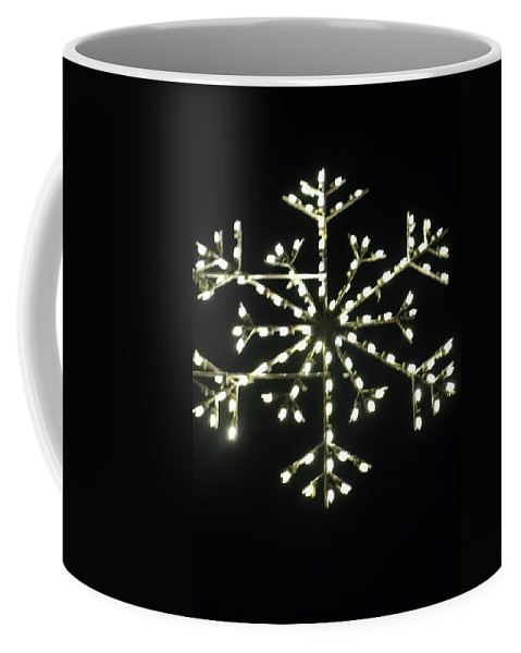 Snowflake Coffee Mug featuring the photograph Electric Snowflake by Rauno Joks