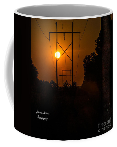 Sunset Coffee Mug featuring the photograph Electric Sunset by James Hennis